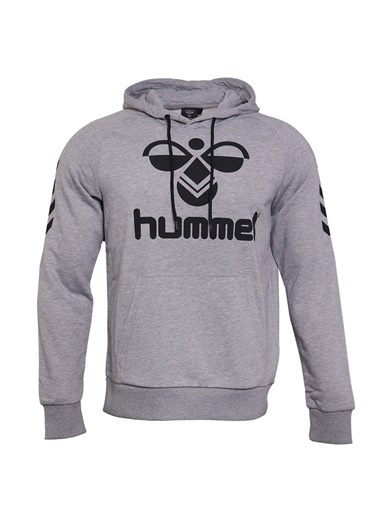 Hummel Hummel 9208952848 Toffy Kapüşonlu Cepli Baskılı Erkek Sweatshirt Gri